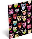 6221 - Notesz papírfedeles A/6 Lollipop Black owl 15405501