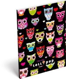 6221 - Notesz papírfedeles A/6 Lollipop Black owl 15405501