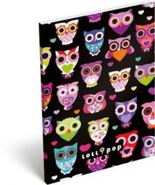 13281 - Notesz papírfedeles A/6 Lollipop Dark Owl 17405522