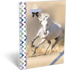 13074 - SPIRÁL FÜZET A4 NÉGYZETHÁLÓS, GEO HORSE, ONE