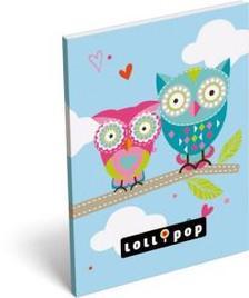 6223 - Notesz papírfedeles A/6 Lollipop Love Owl 15405509