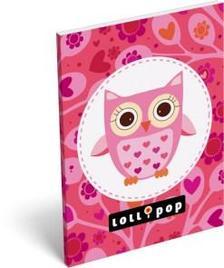 6224 - Notesz papírfedeles A/6 Lollipop Mama Owl 15405509