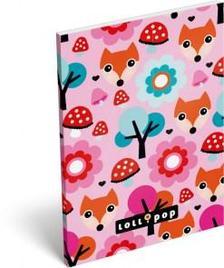 13284 - Notesz papírfedeles A/6 Lollipop Red Fox 17405524