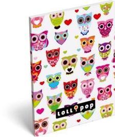 6228 - Notesz papírfedeles A/6 Lollipop White owl 15405502