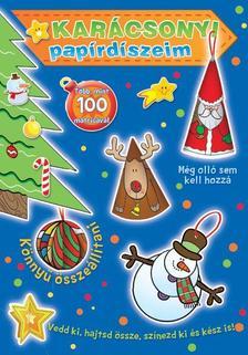 . - Karácsonyi papírdíszeim (kék borító)