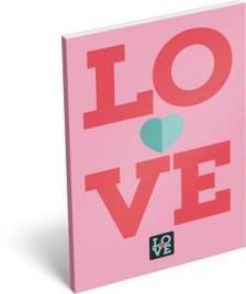 6847 - Notesz papírfedeles A/6 Love Pink 16437307