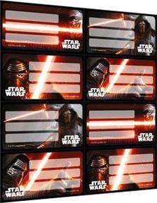 7374 - Füzetcímke íves Star Wars 7 Mix 16447301