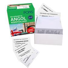 Langowski Judith - PONS Szókártyák ANGOL KÖZÉPHALADÓ A2-B1 333 Szó