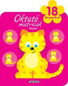 Napraforgó Könyvkiadó - Oktató matricák - Állatok (18 hónaposoknak)