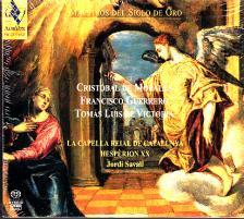 MORALES, GUERRERO, VICTORIA - MAESTRO DEL SIGLO DE ORO 3SACD SAVALL, LA CAPELLA REIAL DE CATALUNYA