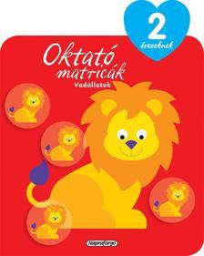 Napraforgó Könyvkiadó - Oktató matricák - Vadállatok (2 éveseknek)